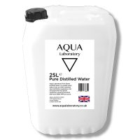 AQUA LABORATORY Pure Steam Distilled Water (25 Litres)