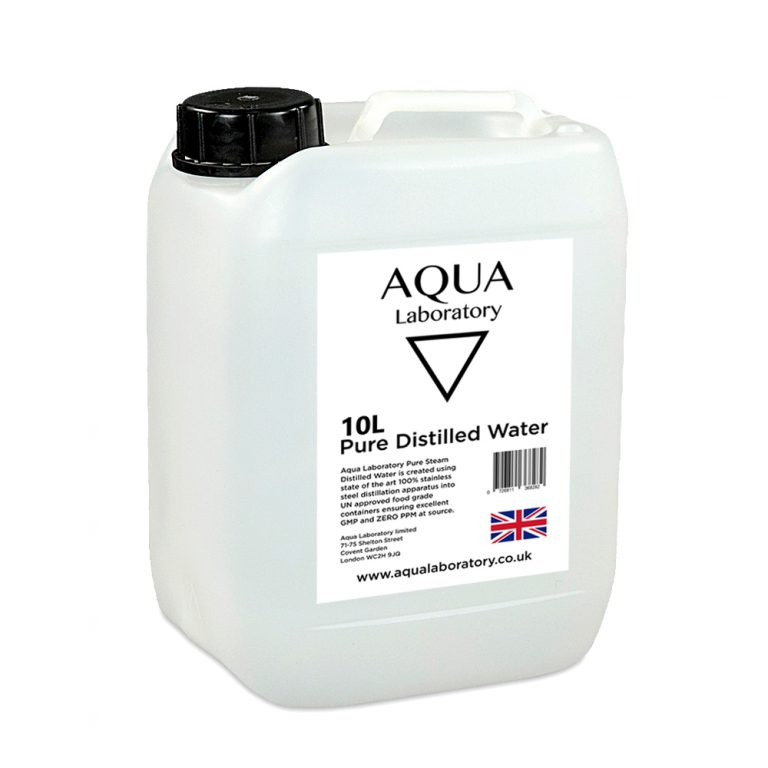 AQUA LABORATORY Pure Steam Distilled Water (10 Litres) - Food grade pure water (10 Litres Pure Steam Distiiled)