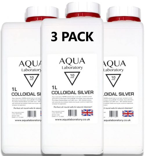 3X Aqua Laboratory 10 PPM Colloidal Silver